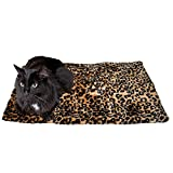 Thermal Cat Pet Dog Warming Bed Mat, Comfortable Nap, Sleeping and Crate Mat for Cats (Large, Beige)