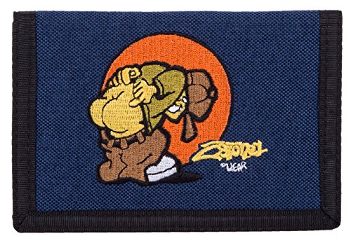 2Stoned Original Geldbörse Wallet mit Stick Kiss in Navy
