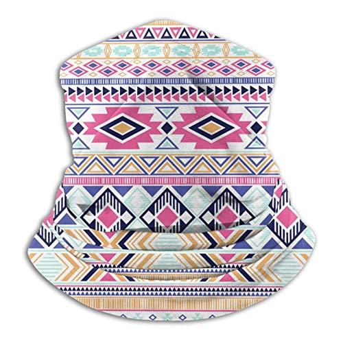 Etnica azteca nativa americana india de forro polar para el cuello, pasamontañas, pasamontañas, para invierno, resistente al viento, protección solar, esquí, para hombres y mujeres