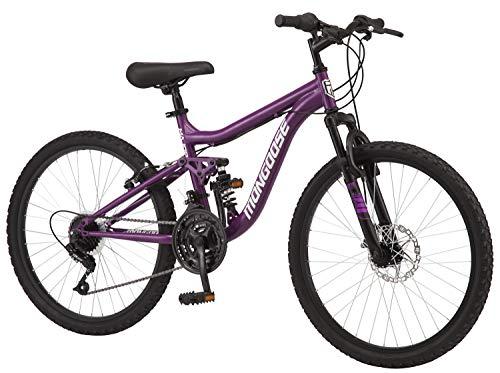 Mongoose Major Mountain Bike, 24-inch Wheels, 18 speeds, Purple