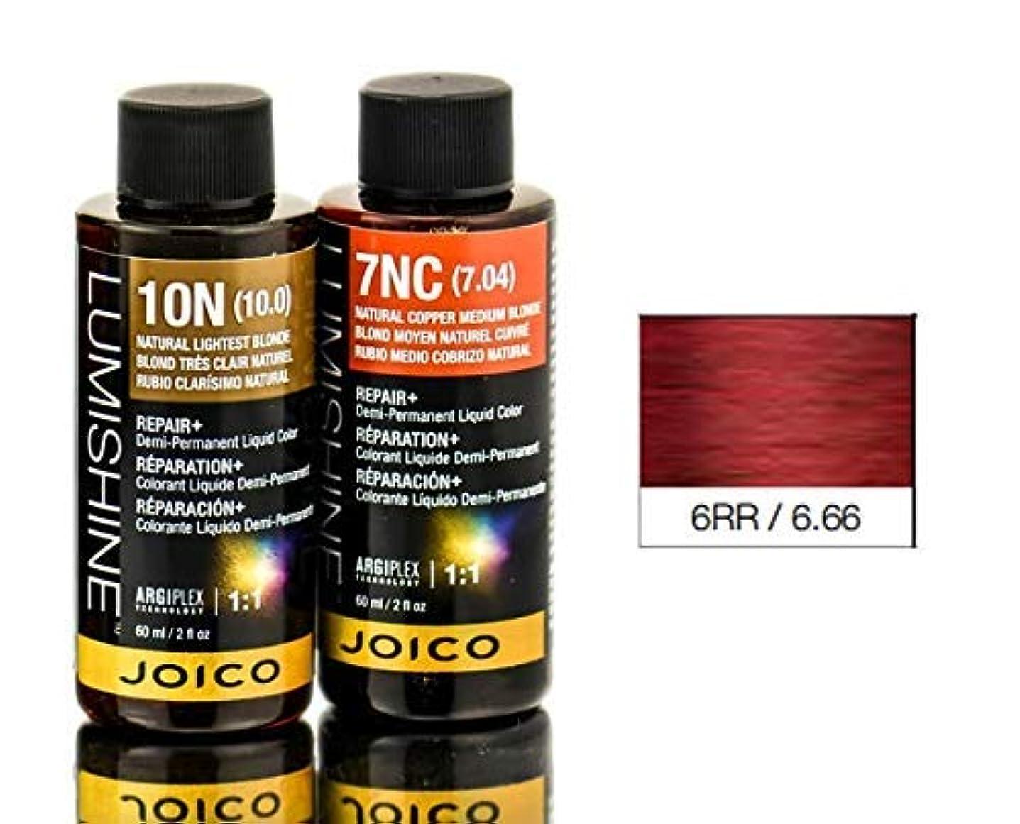 第二に居心地の良い付添人Joico Lumishineデミパーマネント液体色、6RR / 6.66、 2オンス