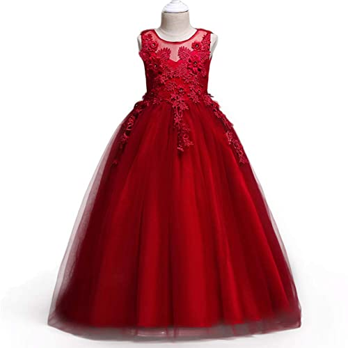 d3f399f63183 HUANQIUE Girl Embroidery Pageant Party Dress Kids Prom Ball Gown