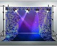 新しい7x5ftスポットライトステージ背景パーティーイベント肖像写真の背景ボール写真撮影小道具スタジオ小道具 164