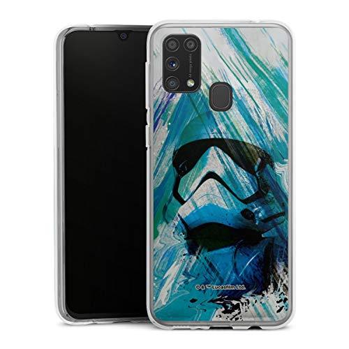 DeinDesign Silikon Hülle kompatibel mit Samsung Galaxy M31 Case transparent Handyhülle Star Wars bunt Stormtrooper