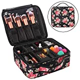 PREMIUM MATERIAL: The Makeup Travel Bag is made of high quality Oxford Fabric, Lining-nylon. (Note: Cosmetic Accessories Not included). ADJUSTABLE COMPARTMENTS: The Makeup Travel Bag have several compartments and makeup brushes slots, you can keep yo...