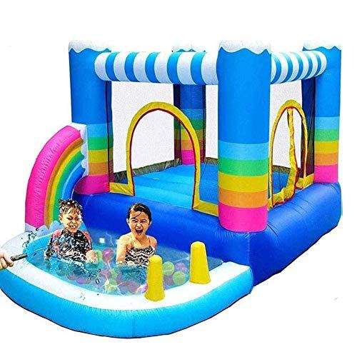 Zjcpow Castillos hinchables for niños Casas de Rebote, Centro de Juegos de Actividades, con Piscina de Agua y soplador de 350W, for Uso en Exteriores en Exteriores. xuwuhz