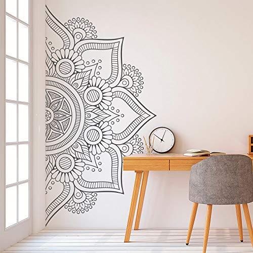 TELEGLO Media Mandala Etiqueta de La Pared para el Dormitorio Moderno Patrón de Diseño de Vinilo Arte Autoadhesivo Pegatinas de Pared Home Room Decor 112x56 cm