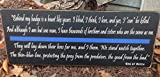 Olga212Patrick End of Watch Quote Thin Blue line Law Enforcement Police Officer Corrections LE Cop Wood Plaque Sign