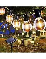 Fochea Lichtsnoer voor buiten, met 4 modi, warmwit, voor bruiloft, patio, party