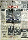 EQUIPE (L') [No 12616] du 01/12/1986 - BECKER - MONACO - ANTIBES - BORDEAUX - OM - LAURIERS ROSES POUR TOULOUSE - RUGBY - GYM - BARBIERI - JUDO - ORLEANS - NEIGE - STENMARK - TENNIS DE TABLE - LES CHINOIS - AUTO - AURIOL.