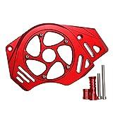 GXFCOK オートバイ前鎖ホイールガードチェーンカバーフロントチェーンガードは川崎オートバイに適しています (Color : Red)