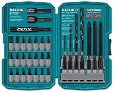 Makita T-01725 Impact Drill-Driver Bit Set, Black Oxide, 70-Piece