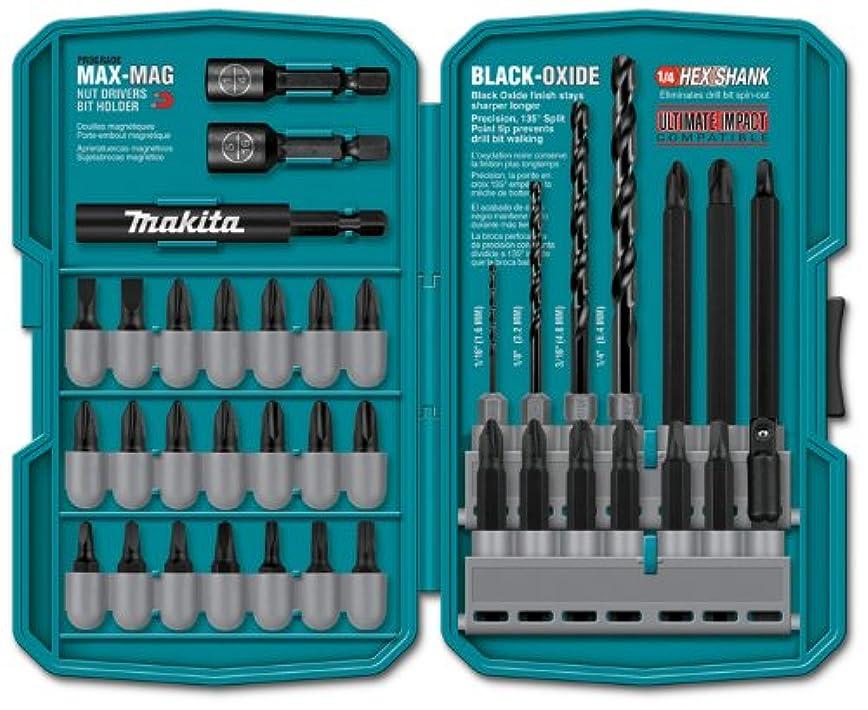 毎日恐ろしい銃マキタ Makita インパクトドリルドライバ用ビットセット 38-Pieceアメリカ仕様 〈並行輸入品〉