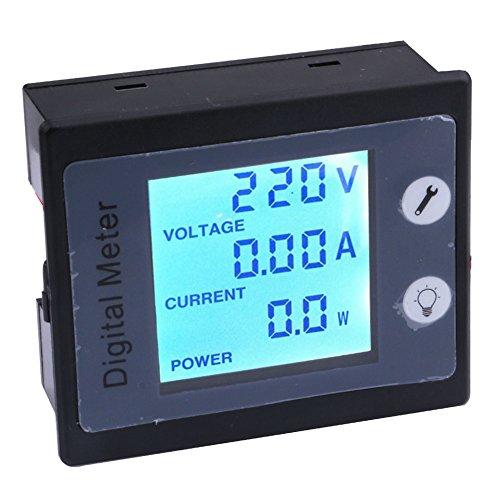 Yeeco AC Digital Meter with CT, Multifunciton Voltage Current Meter AC 80-260V 10A Digital Voltmeter Ammeter LCD Digital Display Multifunciton Volts Current Power Energy Meter Multimeter Gauge Monitor