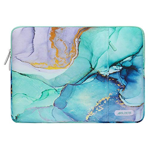 MOSISO Laptop Sleeve Case Compatible with 13-13.3 inch MacBook Pro, MacBook Air, Notebook Computer, Polyester Vertical Bag Marble MO-MBH189