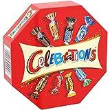 Boite en carton refermable Celebrations contenant 186g d'assortiments miniatures de vos chocolat préférés! Mars, Snickers, Bounty, Twix, Milky Way, Maltesers... un choix ludique à partager en famille et entre amis ! Avec Celebrations, c'est 365 jours...