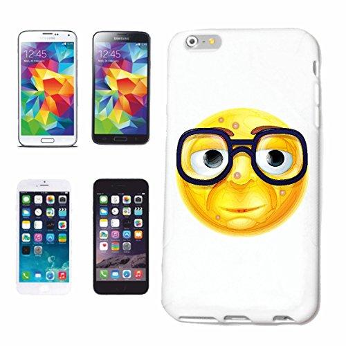 Reifen-Markt Handyhülle kompatibel für iPhone 6+ Plus Geek Smiley Nerd Smiley MIT GROSSER Brille Smileys Smilies Android iPhone Emoticons IOS GRINSEGESICHT EMOTICO