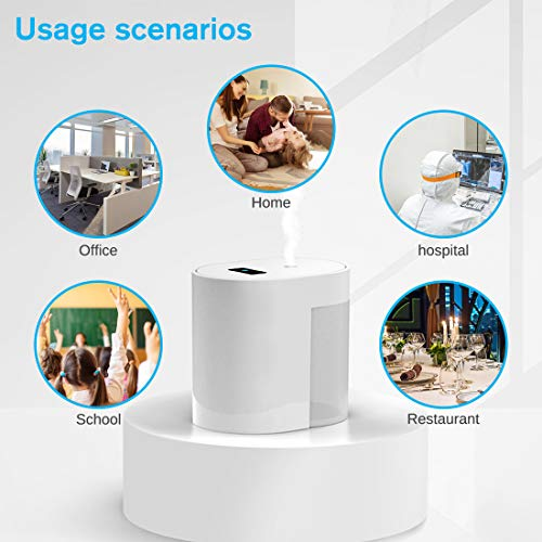 Automatic Alcohol Disinfection Sprayer Mini Portable Infrared Induction Touchless Hand Sanitizer Dispenser, Portable Sterilizer [USB Charging] Suitable for Home Restaurant School Hotel Company (White)
