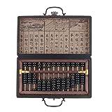 backbayia ábaco Vintage madera con caja clásica para el cálculo matemático Juego Educativo y Científico rojo 13 Rangs