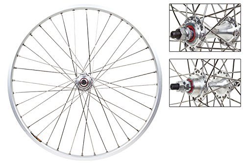 Wheel Master Front and Rear Bicycle Wheel Set 20 x 1-1/8 36H, Sun M13-II, Bolt On, Silver -  65974