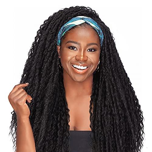 WIGNEE Kinky Curly Headband Wigs for Women Long...