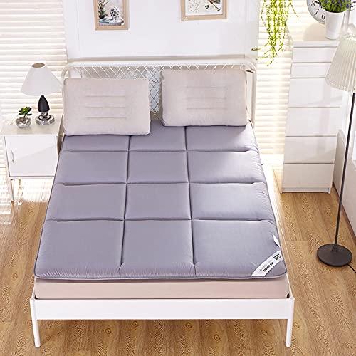 Tatami madrassdyna, japansk golvmadrass futonmadrass, tjockare tatami mattsömn, vikbar upprullbar madrass, bäddsoffa för barn vuxna, aloe bomullstyg,Gray,150x200cm(59 * 79inch)