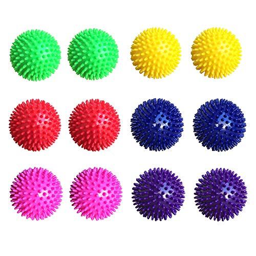 Unibest Unisex Adult Igelball Massageball Noppenball 9cm 12er-Set bunt