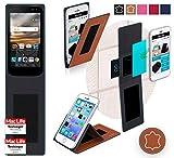 Hülle für LG K3 Tasche Cover Hülle Bumper   Braun Leder   Testsieger