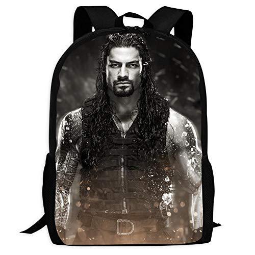 XKSB4E255B Student Backpack Roman-Vv Reigns Children School Bag Fashion Super Daypack Bookbag for Boys/Girls