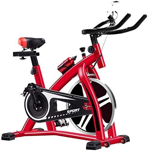 Bicicletas de ejercicio en casa Gimnasio de interior Bicicleta de spinning ultra silenciosa Fitness Pedal de bicicleta profesional de pérdida de peso interior equipo deportivo rojo