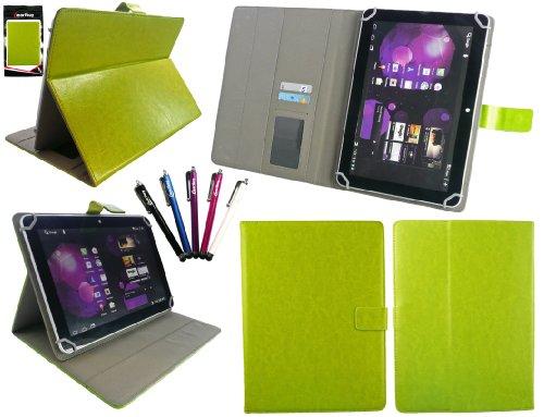 Emartbuy ® B&le von 5 Stylus + Universalbereich Grün Multi Winkel Folio Executive Hülle Cover Wallet Tasche Hülle Schutzhülle mit Kartensteckplätze Geeignet für Odys Neo Quad 10 Inch Tablet