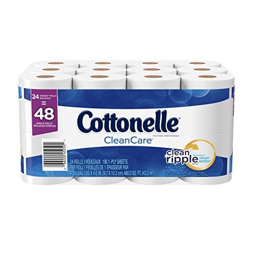 Cottonelle Clean Care Double Roll Toilet Paper, 24 Count