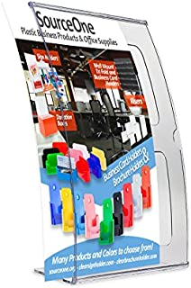 Source One A4 Deluxe Curved Acrylic Sign Holder Ad Frame Picture Frame (5 x 7-6 Pack)