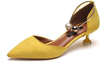 47710f27a3eecd Sunnywill Escarpins Sexy Femme Petit Talon Bout Pointu Bride Cheville  Chaussures Soirée Mariage Chaussures à Bout