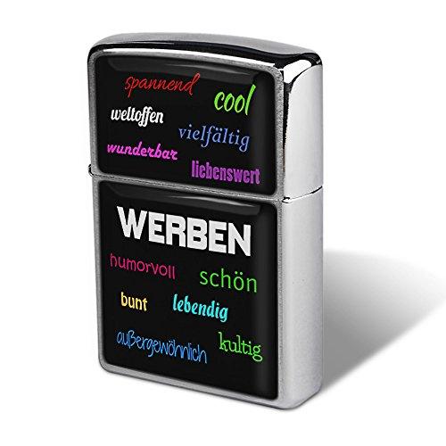 PhotoFancy - Sturmfeuerzeug-Set mit Stadt-Namen Werben - Feuerzeug mit Design Positive Eigenschaften - Benzinfeuerzeug, Sturm-Feuerzeug