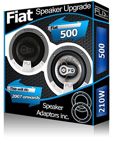 FLI Panneau arrière Fiat 500 Orateurs Audio Haut-Parleur de Voiture Kit de 210 W