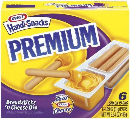 Kraft Premium Handi-Snacks, Breadsticks 'n Cheese Dip, 6.54 oz (Pack 9)