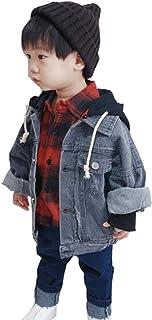 [ユケ二ー] 男女兼用 90-130CM Gジャン 可愛い デニムジャケット 子ども服 キッズ ジーンズ Gジャン 男の子 デニムコート ジージャン