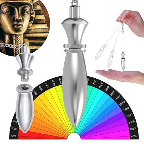 Pendulo Egipcio de Radiestesia Adivinación con Testigo y su Cadena (38 gr) – Magnetizador, Zahorí, Clarividencia, Adivinación – Esoterismo