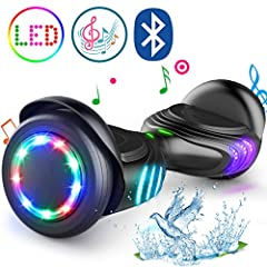 ※Get Free Hoverboad Bag---Just contact seller when you received the hoverboard. √UL2272 Certified & Approved by CPSC --- Guaranteed quality and safety. √Unique Tires—The updated tires have 4 different lights which can switch randomly. √Colorful Light...