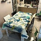 Morbuy Nappe Rectangulaire Nappe de Table Imperméable étanche Lavable et Facile d?Entretien Ménage Table Basse Extérieure Nappe pour Picnic Cuisine Jardin 3D Cactus (Jaune Tournesol,140x160cm)