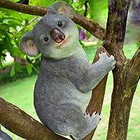 コアラが木で眠っている樹脂像庭の装飾オーストラリアの動物屋外の木の彫刻家の装飾、A