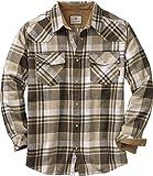 Legendary Whitetails Men's Standard Shotgun Western Flannel Shirt, Tobacco Range Plaid, Medium