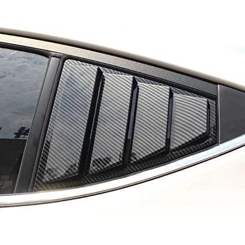 Dmwfaker Auto Styling Heckscheibe Dreieck Platte dekorative Abdeckung Fensterläden Aufkleber, für Hyundai Elantra 2016-2018, Rückseite Dreiecksjalousien Fenster venezianisch