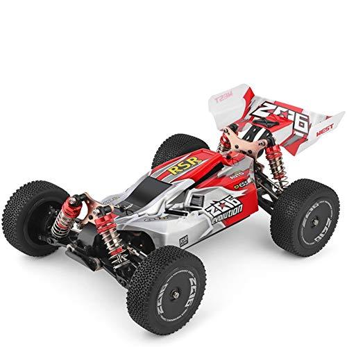 BeesClover WL-Toys 144001 RTR 2.4 GHz RC 1/14 Escala Drift Racing Car 4WD Metal Chasis Eje Bola Rodamiento Gear HYD-raulic Shock Absober Conveniente Vida