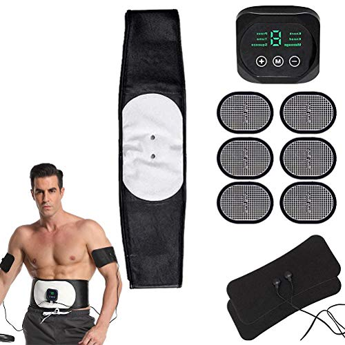 BSTQC Electrical Muscle Stimulation, Fitness Equipment EMS Abdominal Muscle Training Abdomen Arm Leg Training for Men and Women Abdomen/Arms/Legs