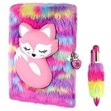 tbcwrh diario segreto bambina, blocco note con lucchetti e chiavi , diario di peluche a5 quaderno con penna, set cancelleria regali di per ragazze bambini
