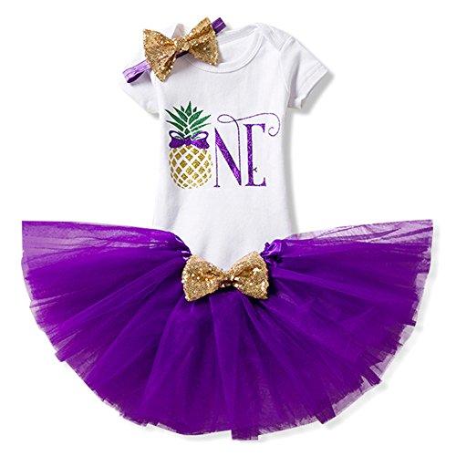 3pcs Set Completo Baby Infant Toddler Girls È la mia torta di Compleanno Smash Shiny Stampato con Fiocco bow Tutu Princess Bowknot Christmas Dress