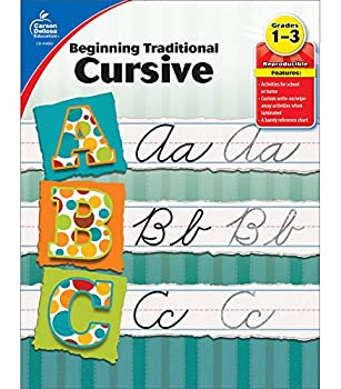 Carson Dellosa Beginning Traditional Cursive Workbook—Grades 1-3 Handwriting Practice Uppercase and Lowercase Letters of the Alphabet Number Words  32 pgs   Learning Spot