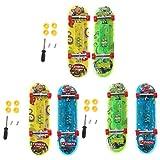 CCIIO 2pcs LED Mini Skateboard Finger Board Tech Deck Niños Juguete Regalos Juguete para bebés